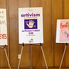 Teen Girl Artivism posters on display at the High Tea