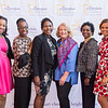 (Left to Right) Program Director, Nicki Sanders, Board Chair, LaTara Harris and Celeste James, Alumna Leteria Bailey, CEO Pam Jones, FCC Commissioner, Mignon Clyburn, and Board Members, Kymber Lovett-Menkiti and Aaron Myers