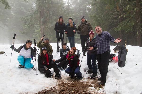 2018-01-14 Snowshoeing on Chinook Pass, Morse Creek