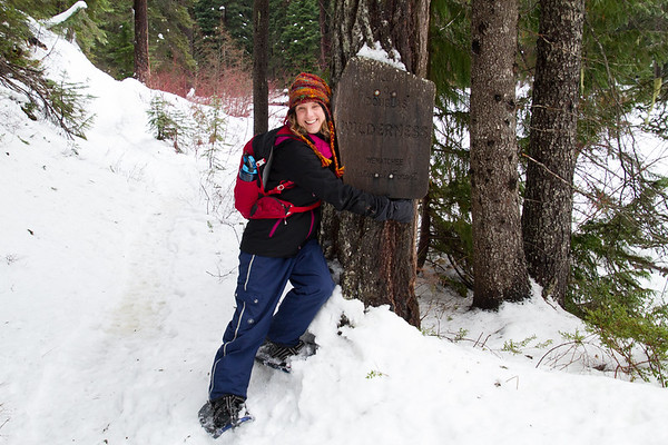 2018-01-15 Snowshoeing on Chinook Pass, Hell's Crossing