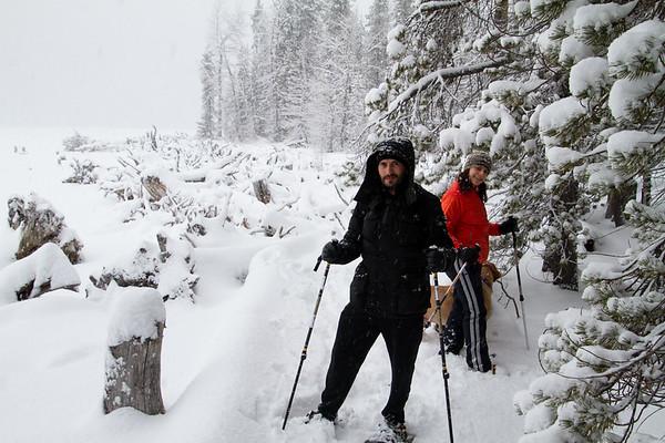 2018-01-23 Snowshoeing on Chinook Pass, Bumping Lake