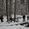 Snowshoeing Pleasant Valley Trail 999<br /> Pleasant Valley CG to Union Creek Falls<br /> Photographer: James Thomas