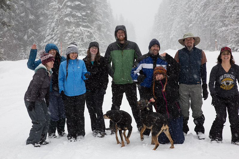 Snowshoeing on Chinook Pass<br /> Pleasant Valley Loop Trail<br /> Hell's Crossing to Crow Lake Way