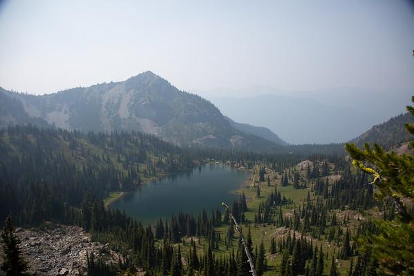 2018-08-15 Hiking on Chinook Pass: PCT, Sheep Lake, Sourdough Gap, Crystal Lake, Norse Peak Wilderness