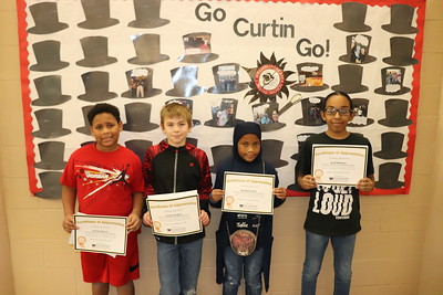 From left is Kamar Stroud, Cashlin Rogers, Aamilah Amos and Scott Anthony. (Curtin Intermediate School)