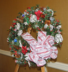 One Of The Prizes Was Our Annual Money Wreath