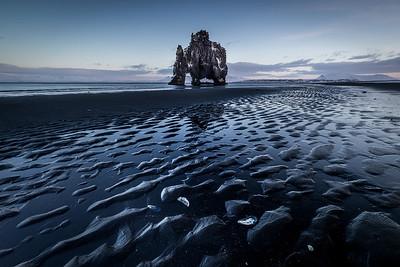 ICELAND, HVITSERKUR,  DINOSAUR ROCK-5610