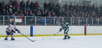 Ely Chynoweth takes one of his famous slapshots