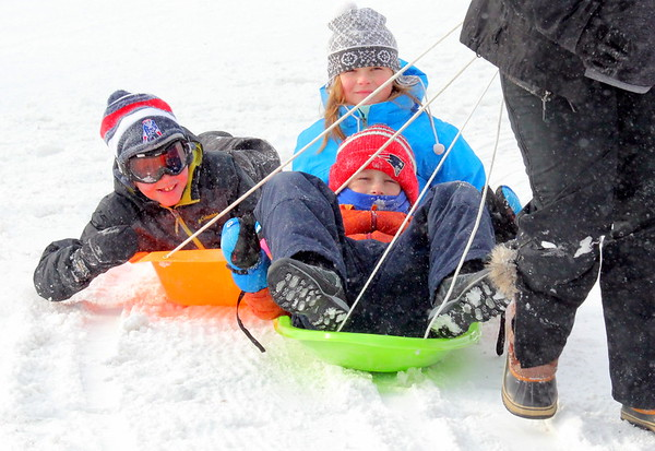 Winter Sledding at Quechee Club