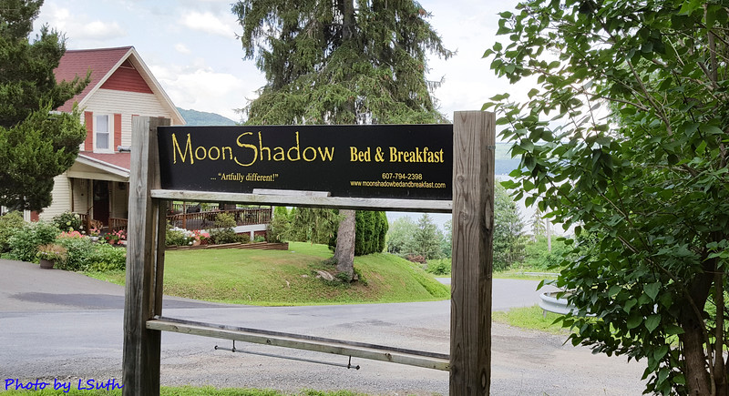 MoonShadow Bed and Breakfast sign