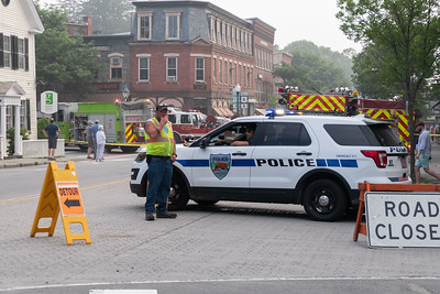 27Police and highway workers shut down several intersections and created detours around most of the downtown on Monday