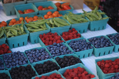 Berries and vegetables grown by Clay Hill Corners Farm in Hartland, VT