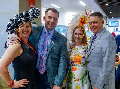 Friends of #5 Audible, in The Turf Club at The 144th Running Of The Kentucky Derby
