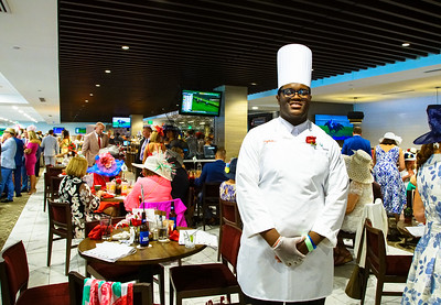 Chef tends to The Turf Club 144th Running Of The Kentucky Derby