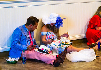 Taking a break at The The Kentucky Derby