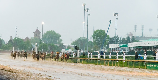 Heading toward the Finish Line. Justify Wins The 144th Running Of The Kentucky Derby