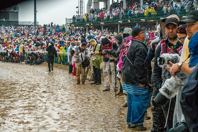 Phtographers Waiting For the Race along the inside rail to see Justify Wins The 144th Running Of The Kentucky Derby