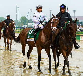 Audible with Jockey Javier Castellano. Justify Wins The 144th Running Of The Kentucky Derby