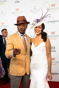 Actor Blair Underwood and his wife on The Red Carpet 144th Kentucky Derby