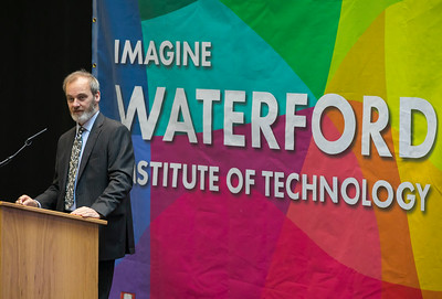 07/03/2018. Waterford Institute of Technology Labatory Sciences Careers Day at The Arena. Pictured is Dr. Jonathan Derham EPA during his address. Picture: Patrick Browne