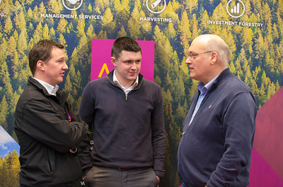 09/03/2018.  Land Sciences Careers Day. Waterford Institute of Technology and Teagasc marked 40 years of partnership at a Land Sciences Careers event for WIT students at the WIT Arena. The programmes the two collaborate on span right across the board from agrifood, to forestry, and horticulture.  Pictured are Joe Codd of Veon with WIT Student Kevin Cullen and Michael Pedini, WIT  Lecturer. Picture: Patrick Browne