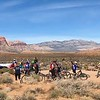 Project Hero participants ride the trails of Red Rock Canyon during the 2018 Las Vegas Mountain Bike Ride. Project Hero, a 501(c)3 non-profit organization, is dedicated to helping veterans and first responders affected by PTSD, TBI, illness, and injury achieve rehabilitation, recovery and resilience in their daily lives. Photo by Kevin Binkley