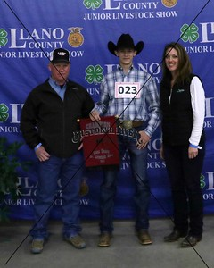 23-Cade Whitson, Meat Goat Middle Weight, Breed Champion