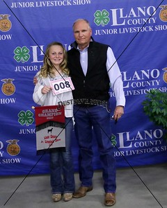 8-Emma Morris, Meat Goat, Grand Champion