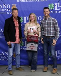 16, Taryn Morris, Meat Goat, Reserve Champion