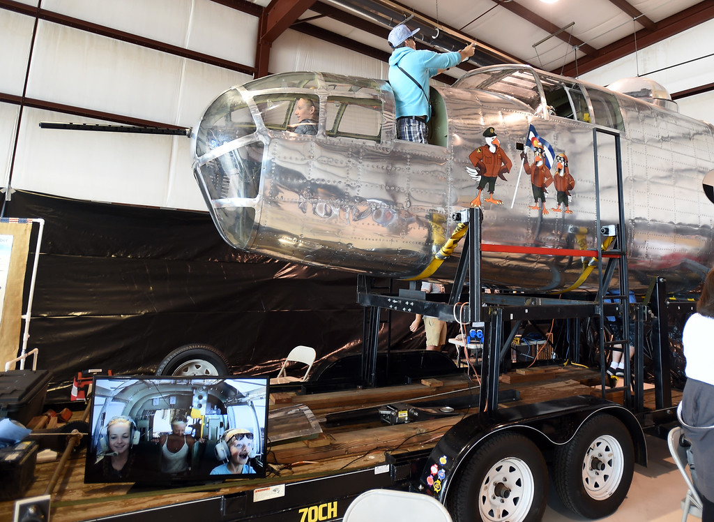 . The  model of the B-25 Mitchell Bomber with simulator was popular during the 2018 Longmont Airport Expo at Vance Brand Airport on Saturday. For more photos, go to dailycamera.com. Cliff Grassmick  Staff Photographer  June 23, 2018