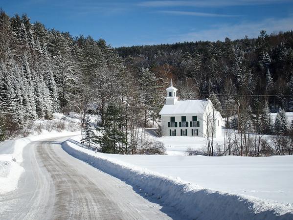 White church in Vermont