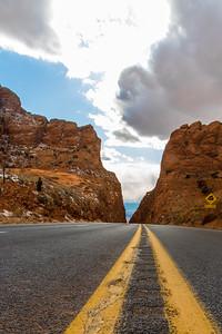 DA040,DP,Steep_Back_Road_Highway_Lines_Riding_between_Cliffs-9486