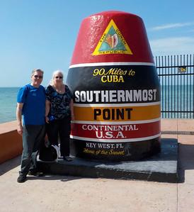 Joe & Lynn at the famous Key West bouy