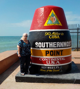 Lynn at the southernmost Point in the continental US