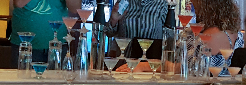These were the drinks that were all poured in the video.