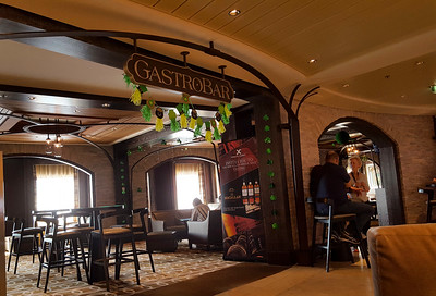 The GastroBar decorated for St. Patricks's Day