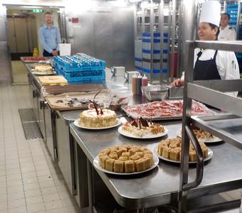 Dessert  preparation area
