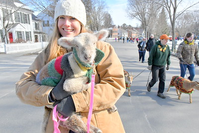 DSC_1076 Cille Meberg,,with a lamb from Billings Farm