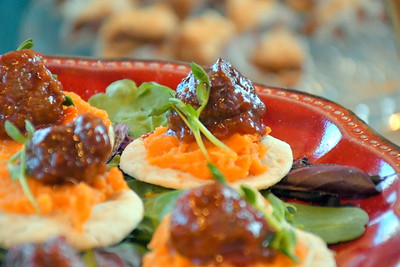 DSC_1918 Bourbon Meatballs with Maple Sweet Potato,,by Mandy Traineanu of Aroma Catering Vt