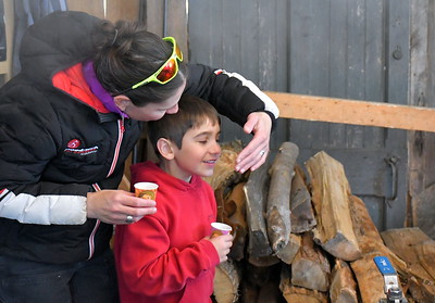 DSC_1537 Gretchen Czaja helps wave the scent of maple to Micah Mahood,6