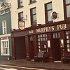 Murphy's Pub (brown)  on Right, Murphy's B&B (green) on left