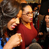 "Cheryl Jackson, Founder of Minnie's Food Pantry, left, and Oprah Winfrey, talk to media on the red carpet before the Minnie's Food Pantry 10th Annual Feed Just One Gala on Tuesday evening, April 3, 2018, at the Omni Frisco Hotel in Frisco, Tx. Oprah Winfrey was the keynote speaker, with special guest  Floyd Mayweather, NFL Hall of Famer Emmitt Smith, Joel and Victoria Osteen, Actress Roma Downey and Mark Burnett, GRAMMY winner recording artists, Israel Houghton, and Donnie McClurkin. ET's Kevin Frazier was the emcee of the event. Minnie's Food Pantry's has distributed over 7 million meals to families in needs and is 100% community funded.  <a href=""http://www.minniesfoodpantry.org"">http://www.minniesfoodpantry.org</a>"