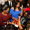 "Oprah Winfrey, signs an autograph as Cheryl Jackson, Founder of Minnie's Food Pantry, right, watches on the red carpet at the Minnie's Food Pantry 10th Annual Feed Just One Gala on Tuesday evening, April 3, 2018, at the Omni Frisco Hotel in Frisco, Tx. Oprah Winfrey was the keynote speaker, with special guest  Floyd Mayweather, NFL Hall of Famer Emmitt Smith, Joel and Victoria Osteen, Actress Roma Downey and Mark Burnett, GRAMMY winner recording artists, Israel Houghton, and Donnie McClurkin. ET's Kevin Frazier was the emcee of the event. Minnie's Food Pantry's has distributed over 7 million meals to families in needs and is 100% community funded.  <a href=""http://www.minniesfoodpantry.org"">http://www.minniesfoodpantry.org</a>"