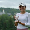 Elena Lopez (Crag Burn GC) with runner-up trophy
