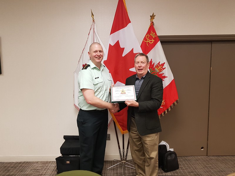 Thank you Capt. Wayne Baxter for your presentation on the Honours and recognition<br /> Merci au Capt Wayne Baxter pour sa présentation sur les prix et récompenses