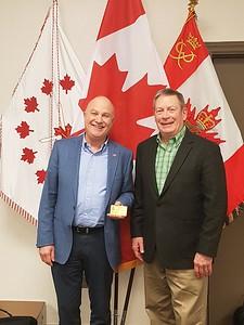 Congratulation to Mr. Gilles Déry as one of the newest ACLC Life members Félicitations a M. Gilles Déry un des nouveaux membre a vie de la LCAC