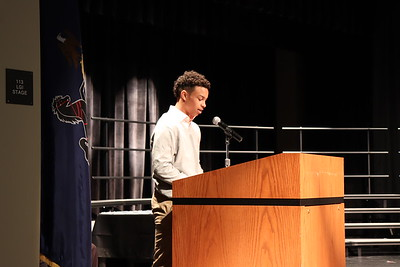 2018 inductee Xavier Taylor reads from his essay.