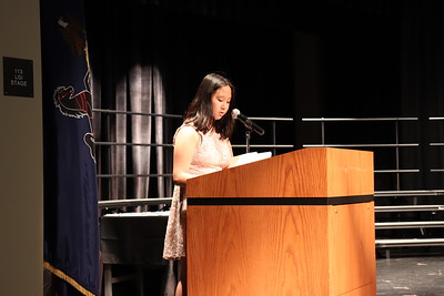 """Marcella Fisher speaks to the """"service"""" pillar of the NJHS."""