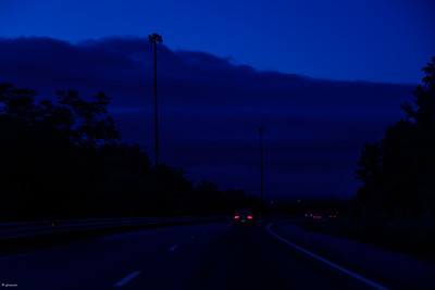 Predawn on the Road