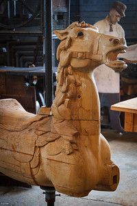 Herschell Carrousel Horse in the Making